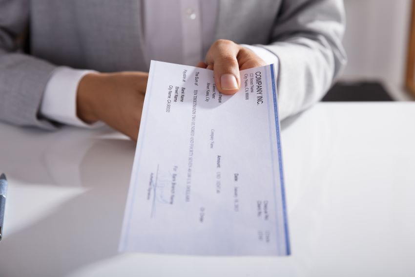 Early NIS Cheque Cashing With Conditions