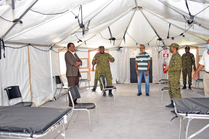 Medical Field Hospital Set Up As Respiratory Facility