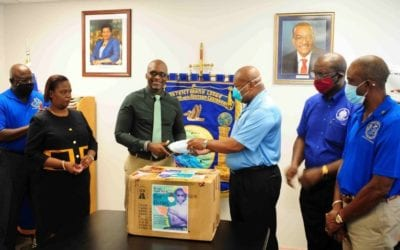 District Grand Lodge Donates Masks To Health Ministry