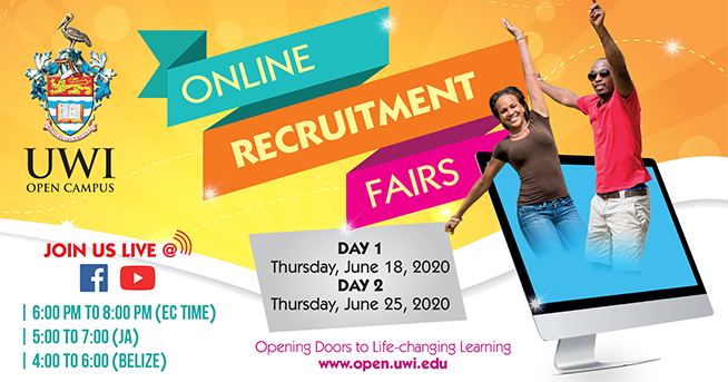UWI Open Campus Hosting Online Recruitment Fairs