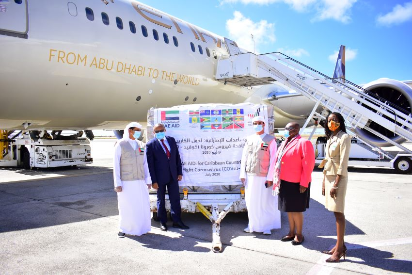 Barbados Receives COVID-19 Supplies From UAE