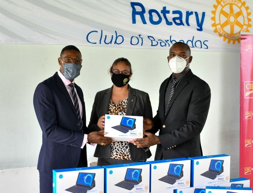 Rotary Club & FirstCaribbean Donate Laptops