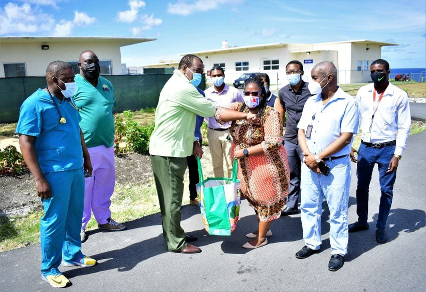 Minister Bostic Praises Frontline Staff; Tours Facilities