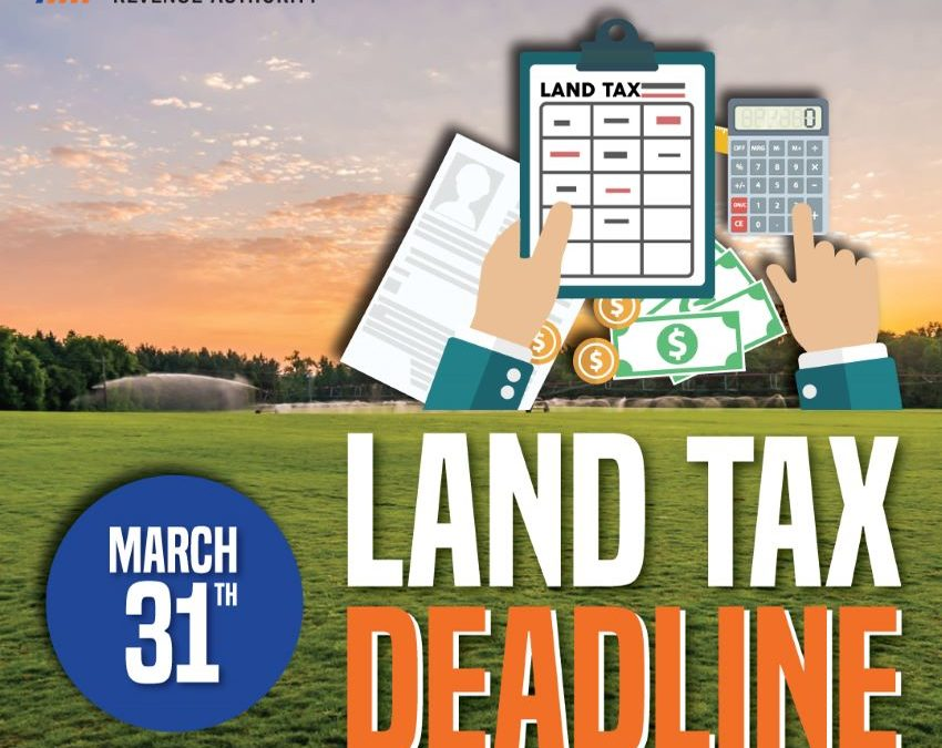 Land Tax Payment Deadline at Month-End