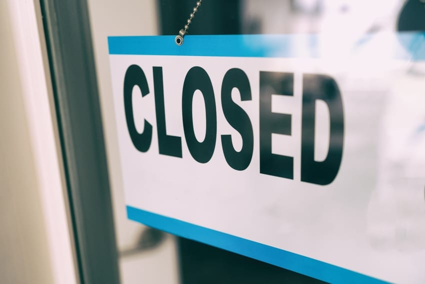 Retail Businesses Close To Public On Monday