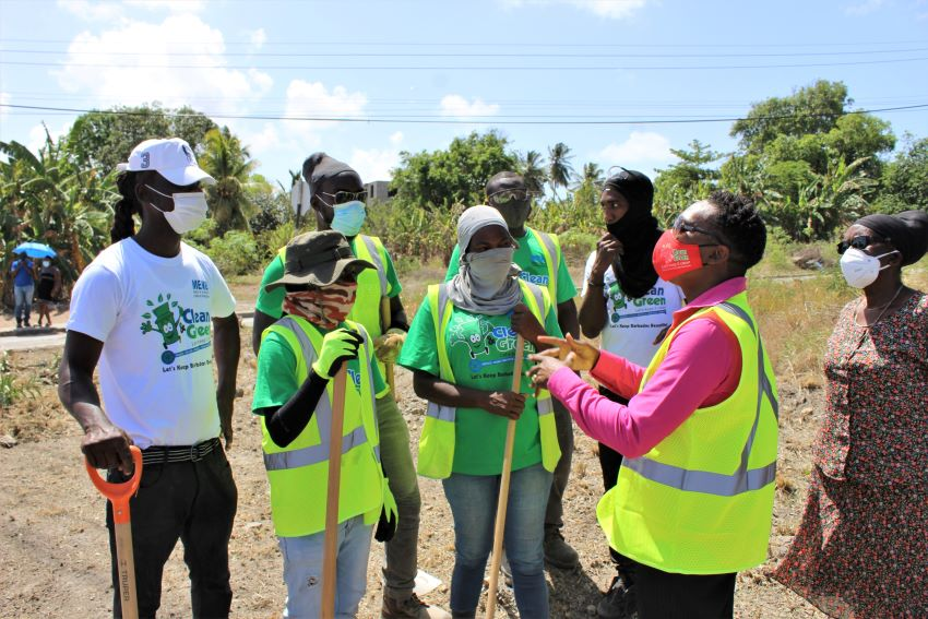 Praise For Barbadians Working To 'Clean & Green'