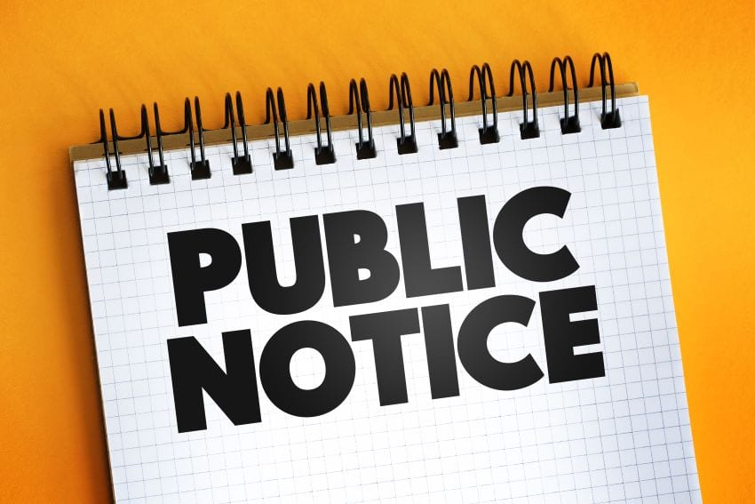 Public Must Notify Of Residence Change Within 30 Days
