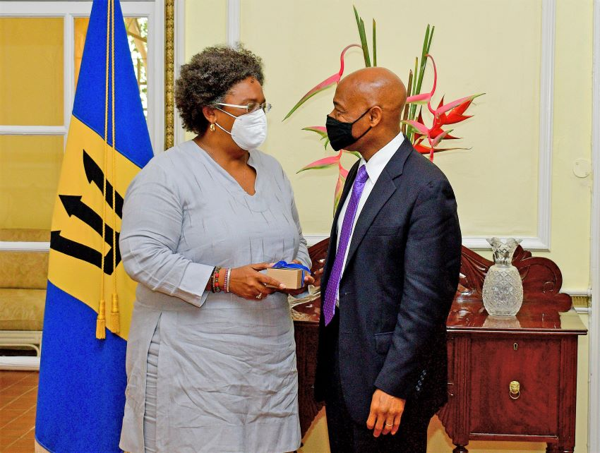 Prime Minister Meets With New CDB President