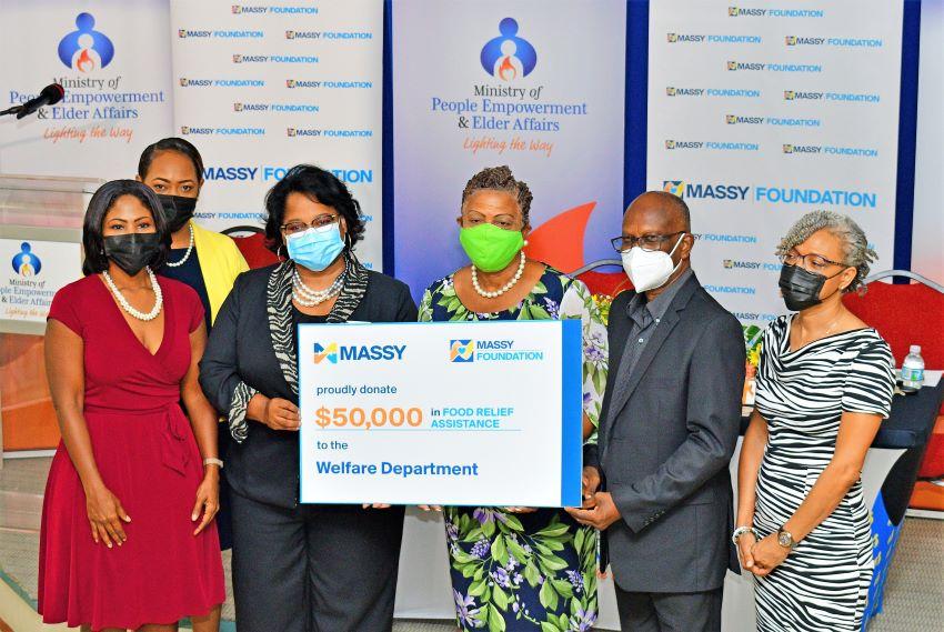 Massy Foundation Donates To Welfare Department