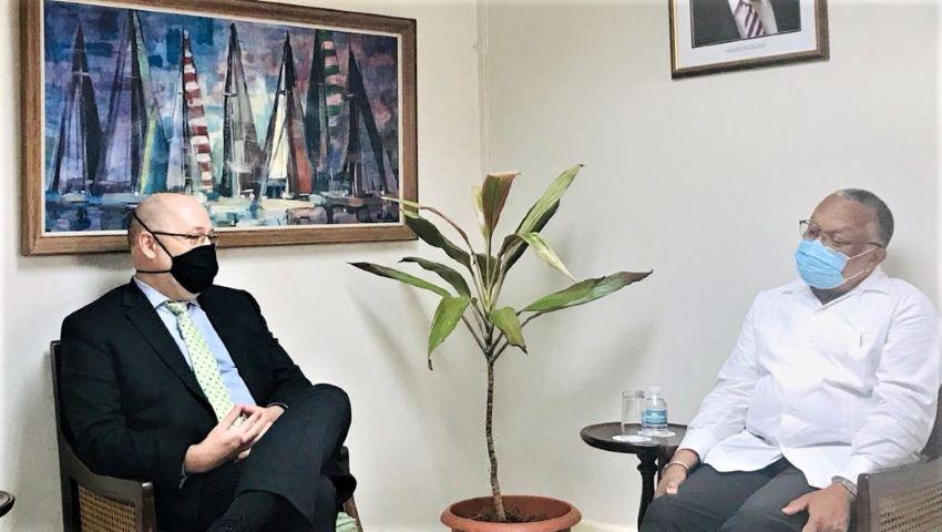 Minister Walcott Meets New PAHO Sub-Regional Director