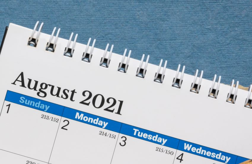 August 02 & 03 Are Bank Holidays
