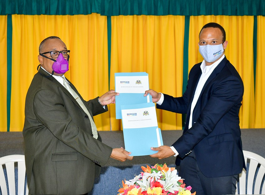 Berger Paints Barbados Limited Signs MOU With SJPI