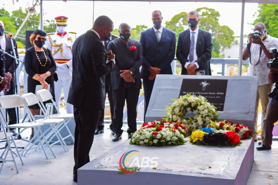 Minister Abrahams Attends Former PM Bird's Funeral