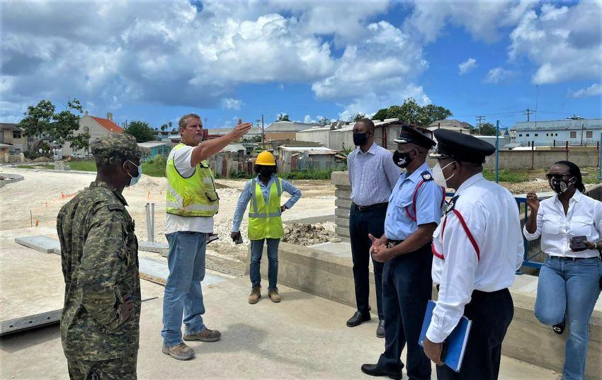 Minister Jordan Tours Salt Pond Flood Mitigation Project