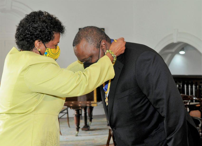 Freedom Of Barbados Award For President Kenyatta